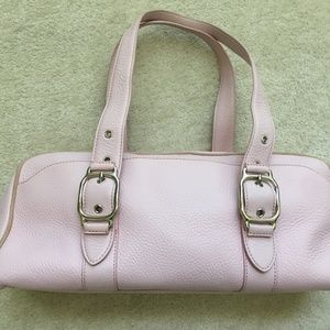 Cole Haan Pebbled Leather Village Satchel Pink